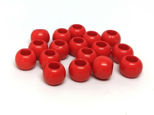 For Paracord and European Cords 4.7mm Hole 100 pcs Round Spacer Beads 10mm