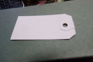 Vintage Dennison White Hang Tags Set of 100 Heavy Cardstock Gift Luggage Price