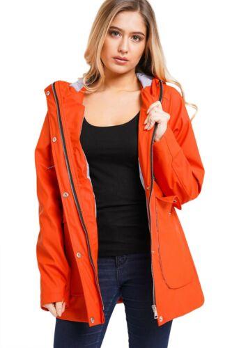 Womens Hooded Raincoats Ladies Zip Up Macs Waterproof Wind Jacket Hoodie