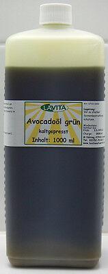 (21,90/L) Avocadoöl, grün, gepreßt, 1000 ml