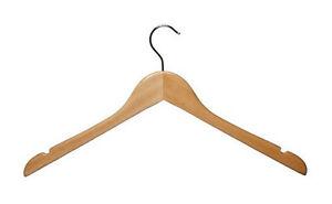 100-Wooden-Coat-Shirt-Tops-Cloth-Garment-Display-Hanger