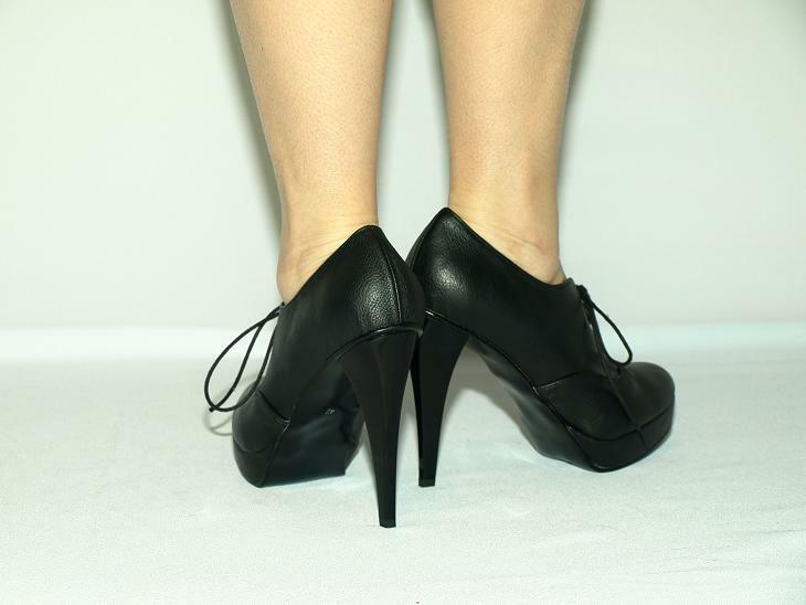 LEATHER IMITATION PLATFORM PRODUCER PUMPS SIZE 5-16 HEELS-5,5