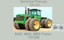 John Deere 8450 8650 8850 Tractor Operation And Test Technical Manual Tm1256 Cd