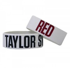 (10) Taylor Swift Red Tour Rubber Bracelet Band - Grey NEW SEALED PLASTIC LOT