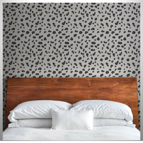 Animal Print DIY Template Dalmatian Spots Repeating Pattern Wall Stencil