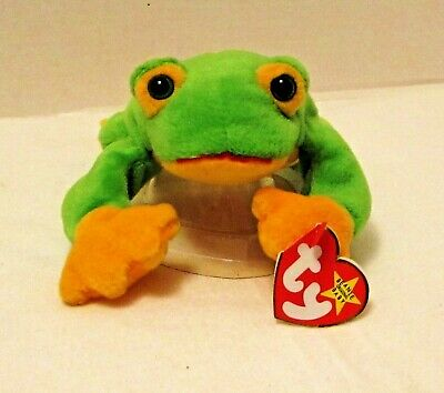 TY Beanie Baby SMOOCHY the Frog Mint with Mint Tags RETIRED