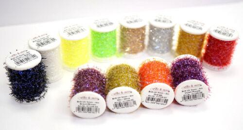 Brill UV Micro Chenille 5mm x 4 Meter 12 Farben Auswahl Brill UV Micro Chenille