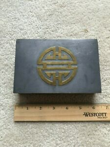 ANTIQUE-CHINESE-PEWTER-VANITY-BOX-with-Brass-character