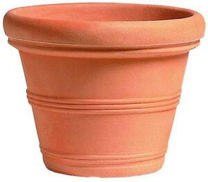 Vasi In Plastica Da Giardino.Dettagli Su Vaso Campana 80 Cm Resina No Plastica Vasi Per Piante Da Giardino No Terracotta