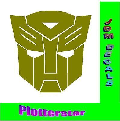 Autobot Transforms nr1  JDM Sticker aufkleber oem PS Power fun Shocker