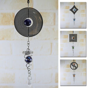 Metal-Wind-Chimes-Spinner-Spiral-Rotating-Crystal-Ball-Yard-Room-Decor-Gift