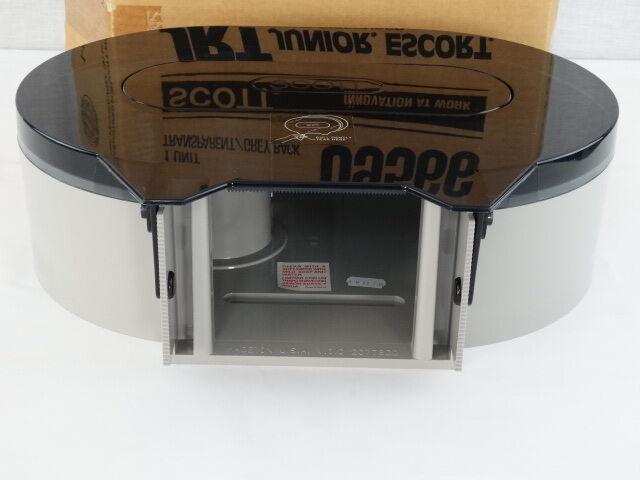 Scott In-Sight JRT Junior Jumbo Roll Tissue Dispenser Transparent Grey Back