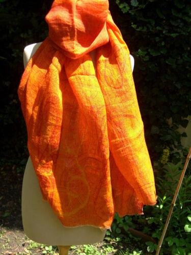 di sciarpa lino Hand lino Sw Scialle Print 001 Stola in Handwoven con N0O8XknwP