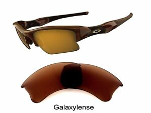 31eb5774e2 Galaxy Replacement Lens For Oakley Flak Jacket XLJ Sunglasses Brown ...