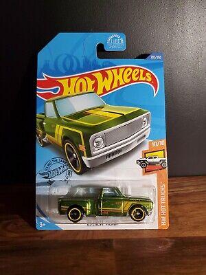 Hot Wheels /'69 Chevy Pickup Truck Green Super Treasure Hunt 2020 L Case