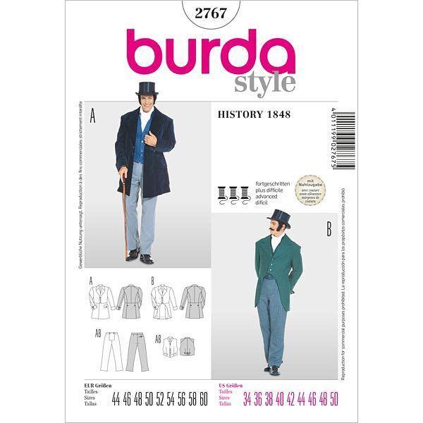 Schnittmuster burda style No 2767 Frack - White Tie - Herrenanzug Gr. 44 - 60