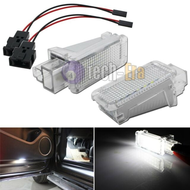 2x White CAN-bus LED Door Courtesy Lights Lamps For Audi A3 A4 A5 A6 A7 Q5 Q7 TT