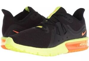 Details about NIKE Air Max Sequent 3 BlackTotal OrangeVolt 921694 012 Multiple Sizes