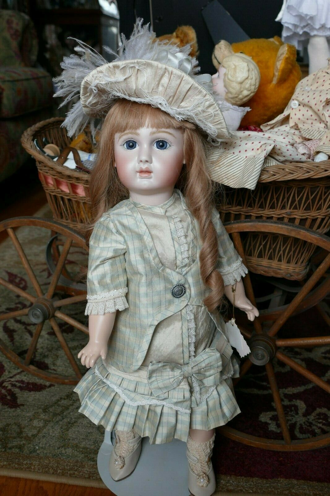 Gorgeous Reproduction  French Steiner cifra A by artist Betty Reeder  21   una marca di lusso
