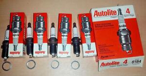 NEW-Made-in-USA-NOS-Set-of-4-pack-Autolite-5184-Resistor-Spark-Plug-FR3LS6-FR45