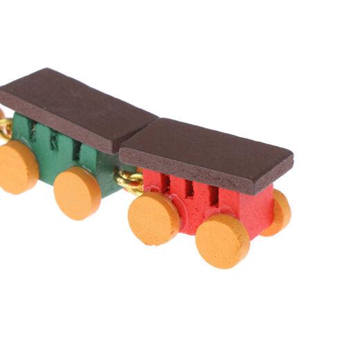 1:12 Dollhouse Miniature Cute Wooden Train Doll House Decor Active Toys XB