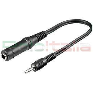 Cavo-audio-JACK-3-5mm-6-3-prolunga-adattatore-per-cuffie-chitarra-microfono-hifi