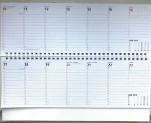 Tischplaner 2019 Querkalender SPARANGEBOT 1 Wo = 1 Seite Timer Kalender