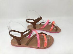 2f0d4aabe15b New! Girls (Youth) Joe Boxer 11464 Skyler Flat Sandals - Brown Pink ...