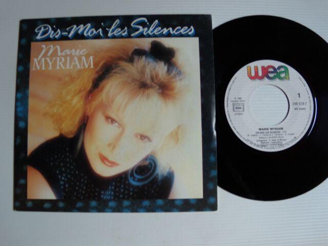 "MARIE MYRIAM : Dis-moi tes silences / musique bord étoiles 7"" 45T WEA 248029-7"