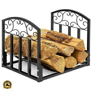 Groovy Details About Firewood Rack Indoor Fireplace Wood Holder Small Log Grate Iron Storage Tray Set Home Interior And Landscaping Ologienasavecom