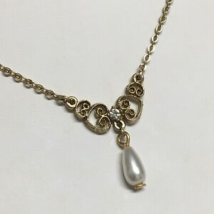 1928-Jewelry-Co-16-Necklace-Faux-Pearl-Drop