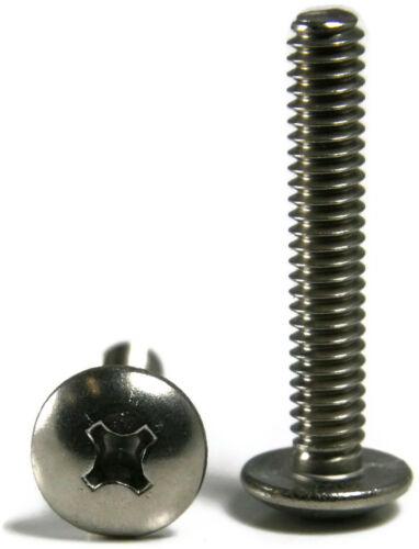 Machine Screws Phillips Truss Head Stainless Steel #8-32 x 1-3//4 Qty 100