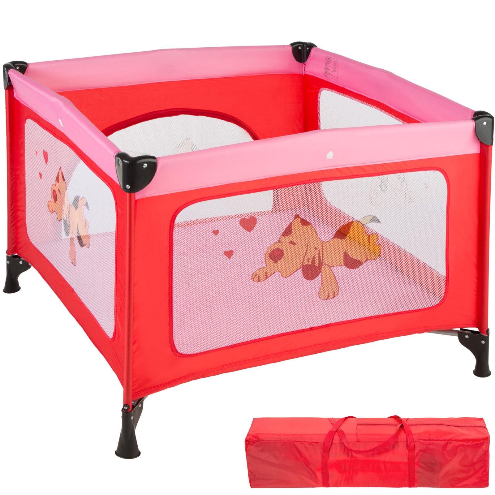 Parque para bebé cuna infantil de viaje portátil altura ajustable rosa