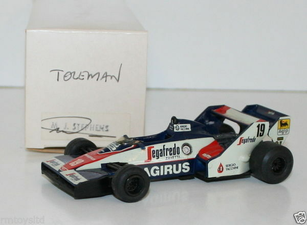 WESTERN MODELS SIGNED 1st VERSION - 1 43 SCALE - 1984 TOLEMAN TG183B SENNA