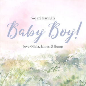GENDER REVEAL BABY BOY INSTAGRAM POST, ONLINE DIGITAL FILE