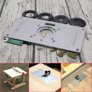 Aluminium router table insert plate 235 x 120 x 8mm for woodworking image is loading aluminium router table insert plate 235 x 120 greentooth Gallery