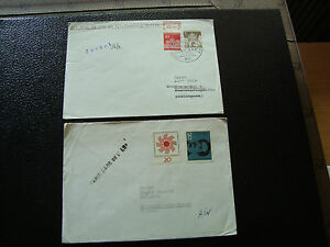 Rfa-Allemgne-2-Envelopes-1966-amp-cy12-Germany