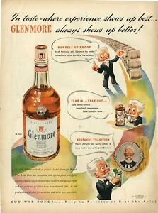 1943-Glenmore-Kentucky-Whiskey-Vintage-Bottle-PRINT-AD