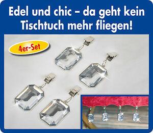 4er-Set-Tischdeckenhalter-Tischtuch-Tischtuchklammern-Tischtuchhalter-NEU