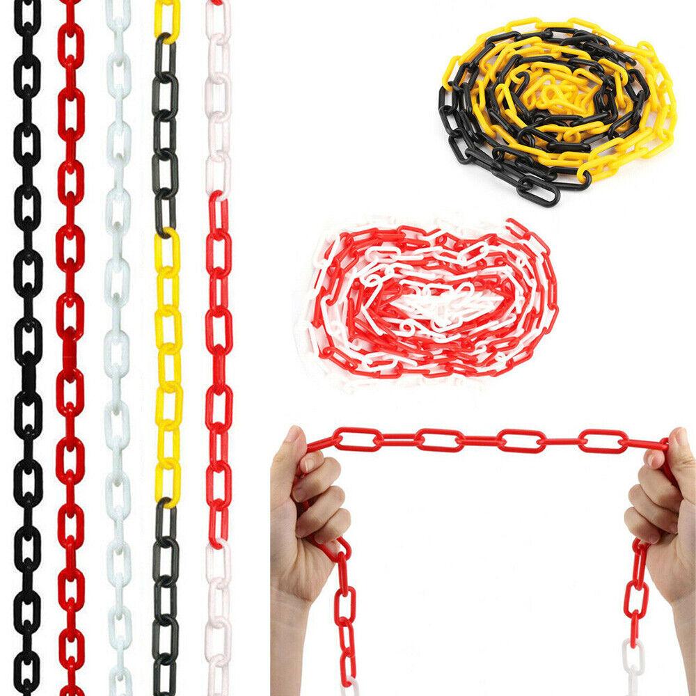 5/10/15/25m Plastic Chain Link Fencing Garden Decking Barrier Health & Safety uk
