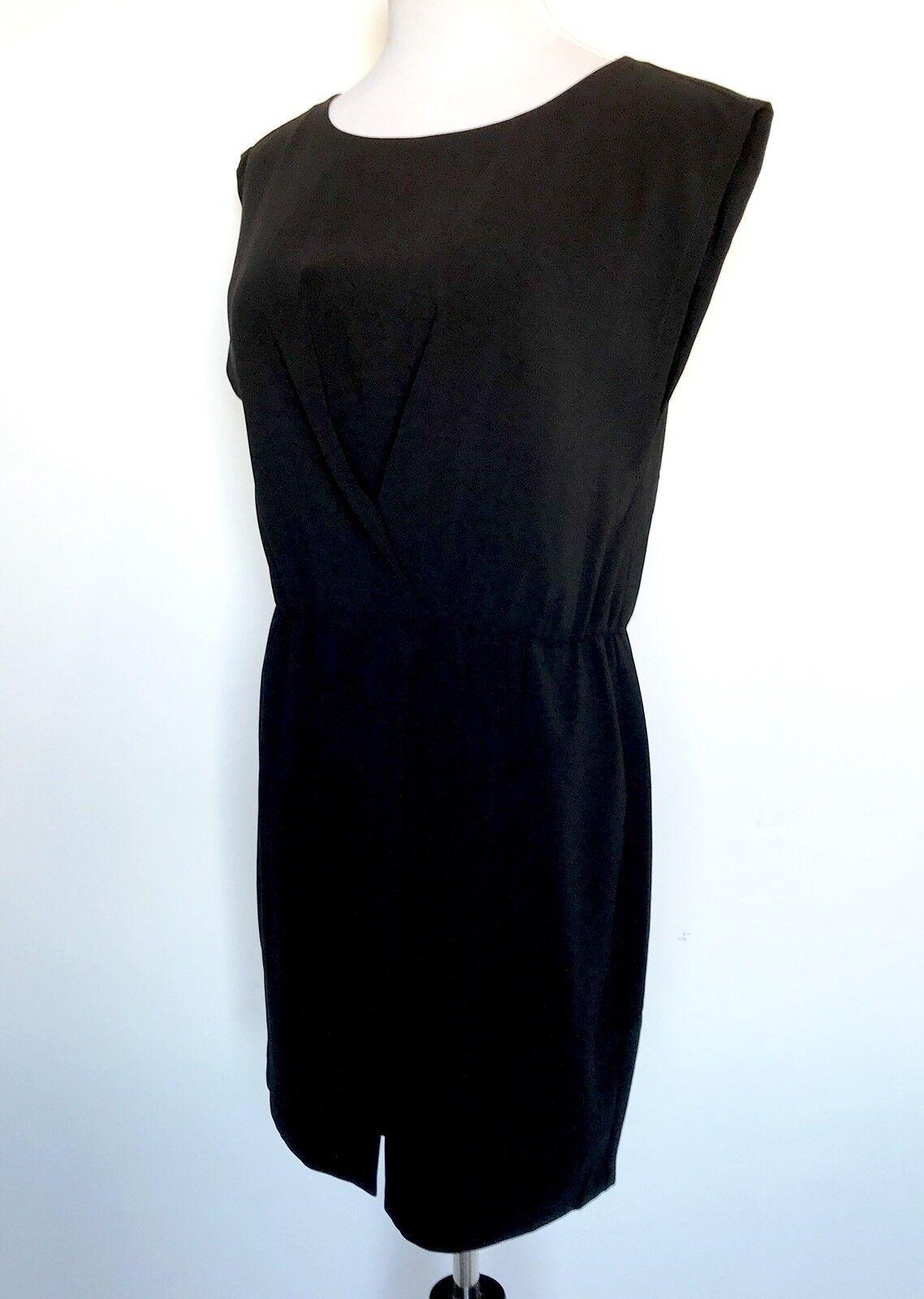 Halston Heritage Short schwarz Wrap Dress NWT Retail  Price  Größe L