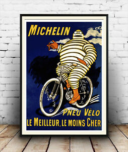 Wall art Michelin: Vintage car tyre advertising poster Reproduction.