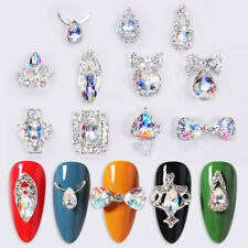 2Pcs/pack Nail Art Glitter 3D Rhinestone Pearl Gems Tips Decoration Metal Charm