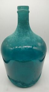 Spain-Recycled-Glass-Vase-Blue-Green-Swirl-Colors