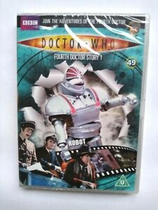 Doctor-Who-BBC-DVD-4th-Doctor-Story-1-New-Sealed-Tom-Baker-Robot