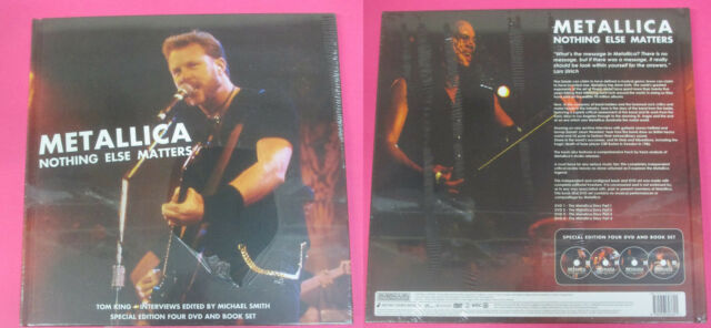 BOOK LIBRO + DVD METALLICA Nothing Else Matters SPECIAL EDITION sealed no lp cd
