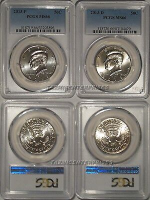 2014 P /& D Kennedy Half Dollar 2 Coin Set 50c PCGS MS67