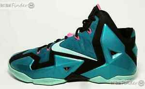 buy popular 90a15 6a285 Image is loading NIKE-LEBRON-XI-11-SIZE-10-SOUTH-BEACH-