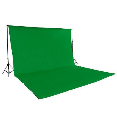 Teleskop Fotostudio Komplettset Hintergrundsystem inkl. Hintergrund 6x3 m grün