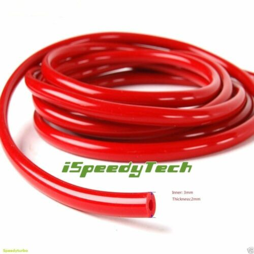 "8MM ID:5//16/"" 0.32/"" Silicone Vacuum Hose Tube Pipe Racing Turbo 1 Foot Red+BU+BK"